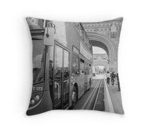 Tower Bridge Traffic Throw Pillow