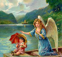 Guardian Angel at Weissensee by elizzza
