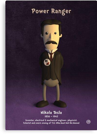 Nikola Tesla - Power Ranger by chayground