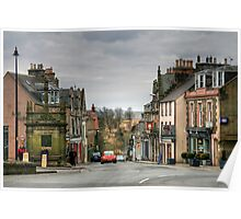 Looking Down High Street from Market Place, Selkirk Poster