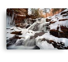 The Shawnee Waterfall Is Freezing Over Fast Canvas Print