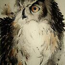 Ink owl in the Valkoinen by Leti Mallord