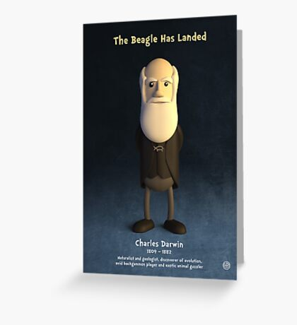 Charles Darwin - The Beagle Has Landed Greeting Card
