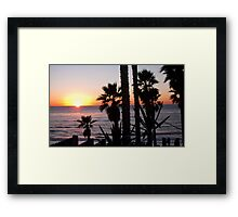 encinitas sunset 2 Framed Print