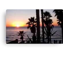 encinitas sunset 2 Canvas Print