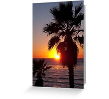 encinitas sunset Greeting Card