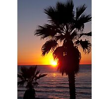 encinitas sunset Photographic Print