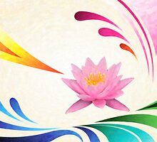 lotus abstractact art by Adam Asar