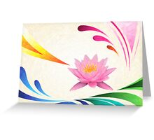 lotus abstractact art Greeting Card