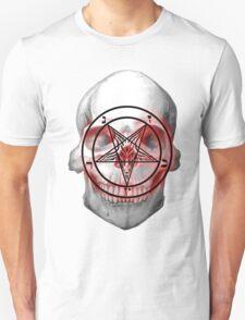 Pentagram Baphomet Skull. T-Shirt