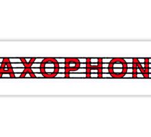 Saxophone Red II Sticker