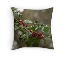 Wild Holly Throw Pillow