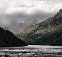 Bayonet Peaks, Lake Wakatipu NZ by andreisky