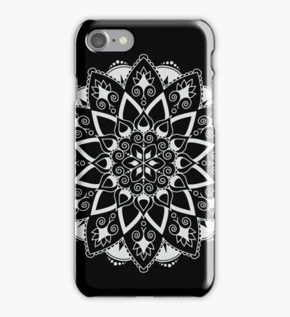 Mandala - White/Black iPhone Case/Skin