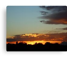 Sunset over the Rocky Mountains Canvas Print