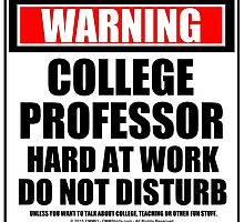 Warning College Professor Hard At Work Do Not Disturb by cmmei