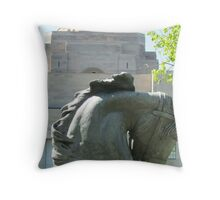 Horses head, War Memorial, Australia Throw Pillow