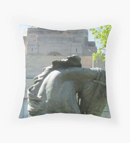 Horses head, War Memorial, Australia Throw Pillow