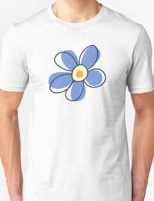 Flowers, Blossoms, Blooms, Petals - Blue Yellow Unisex T-Shirt