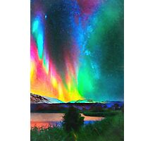 rainbow Aurora Borealis art Photographic Print