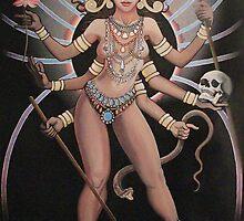 Illuminati Kali Painting by Matt Donahue by Illuminaticloth