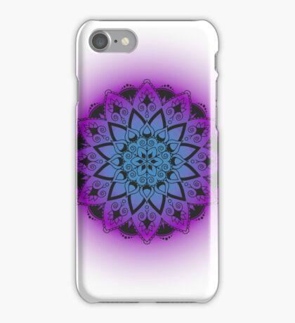 Mandala - Purple/Blue iPhone Case/Skin