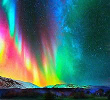 rainbow Aurora Borealis art2 by Adam Asar