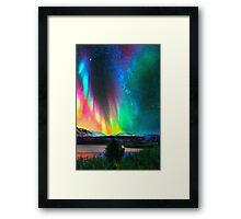 rainbow Aurora Borealis art2 Framed Print