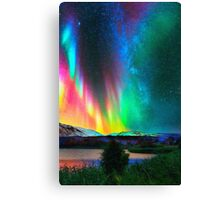 rainbow Aurora Borealis art2 Canvas Print