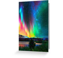 rainbow Aurora Borealis art2 Greeting Card