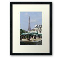 Cannon fire, Paris Framed Print