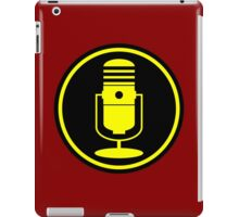 Vintage Microphone Yellow Black iPad Case/Skin