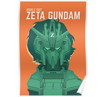 Mobile Suit Zeta Gundam Design Poster