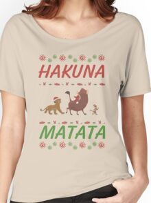 Hakuna Matata Ugly Christmas Sweater Women's Relaxed Fit T-Shirt