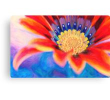 Red flower close up art Canvas Print