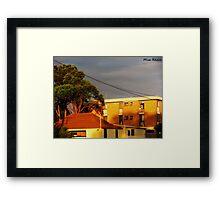 Sunny Apartments Framed Print