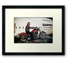 Hippo, Harley and Jumbo Jet Framed Print