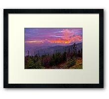 Clingman's Dome Sunset Framed Print