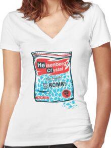 Da Bomb Women's Fitted V-Neck T-Shirt