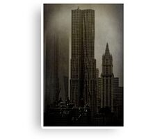 Concrete, Steel, Glass and Fog Canvas Print