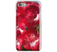 red flower grouping iPhone Case/Skin