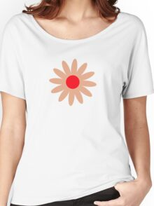 Flowers, Blossoms, Blooms, Petals - Brown Red Women's Relaxed Fit T-Shirt