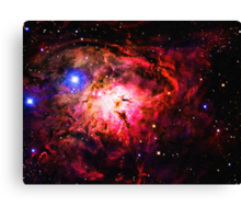 Space -Lagoon Nebula 2 art Canvas Print