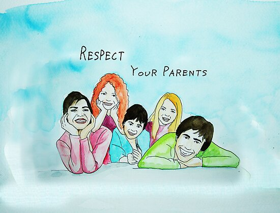School Poster  respect your parents by Adam Asar