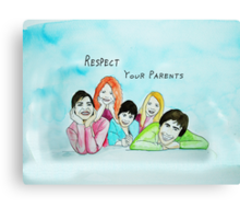 School Poster  respect your parents Canvas Print