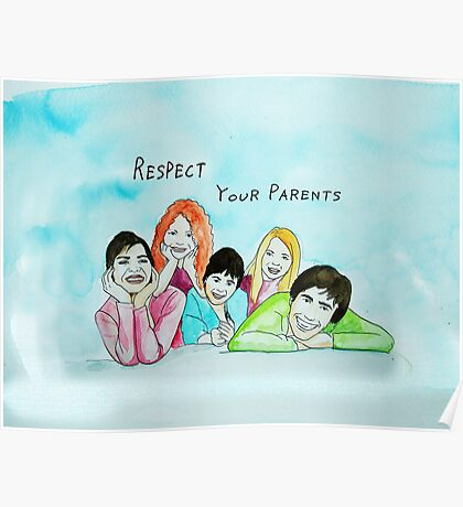 School Poster  respect your parents Poster