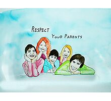 School Poster  respect your parents Photographic Print
