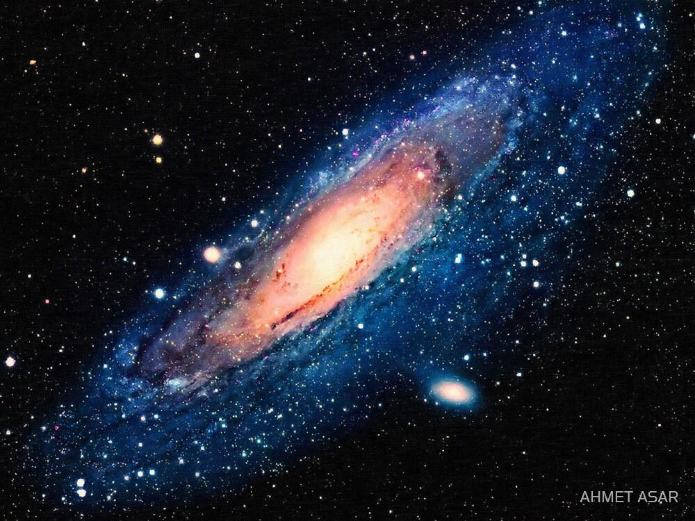 Space m31 spyral galaxy art by Adam Asar