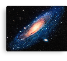 Space m31 spyral galaxy art Canvas Print