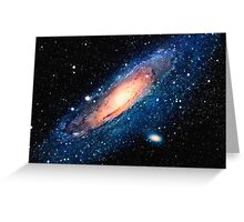 Space m31 spyral galaxy art Greeting Card